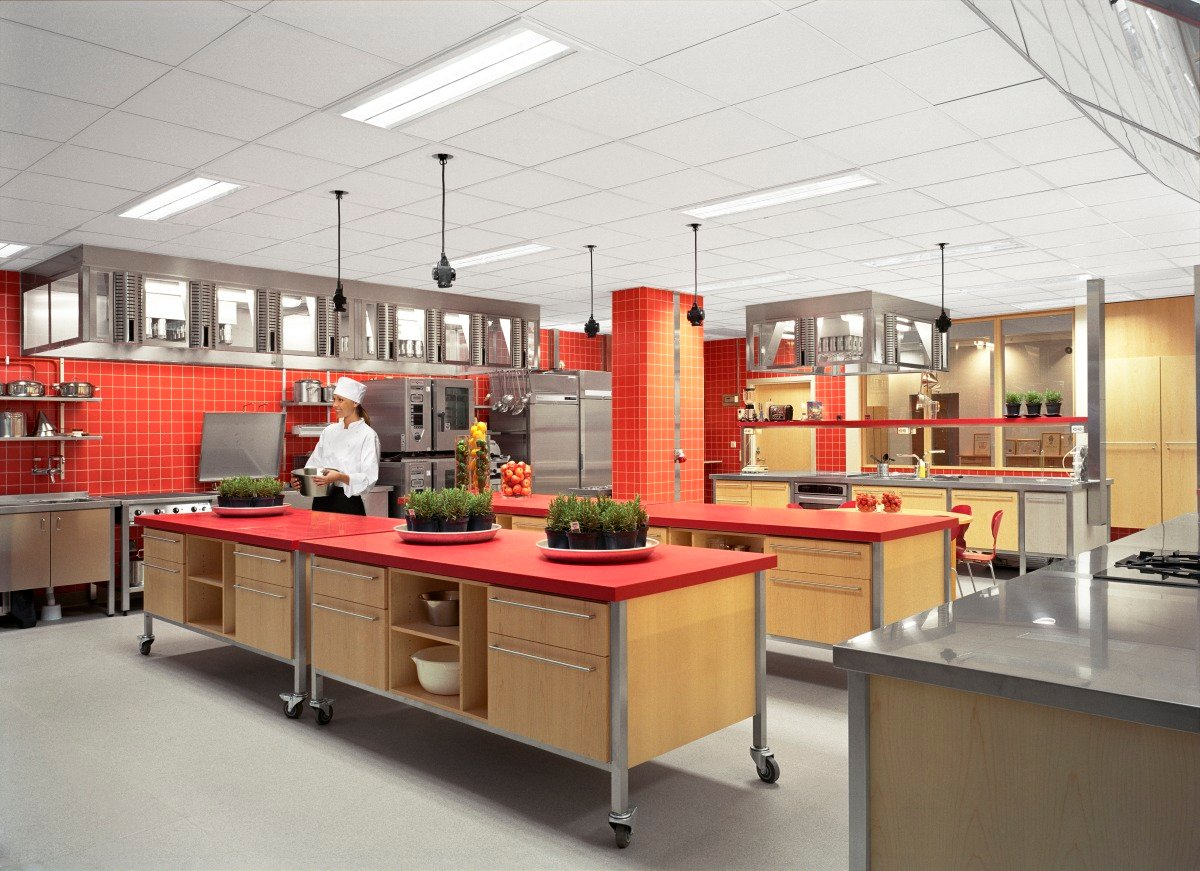 Acoustic solutions for kitchen areas